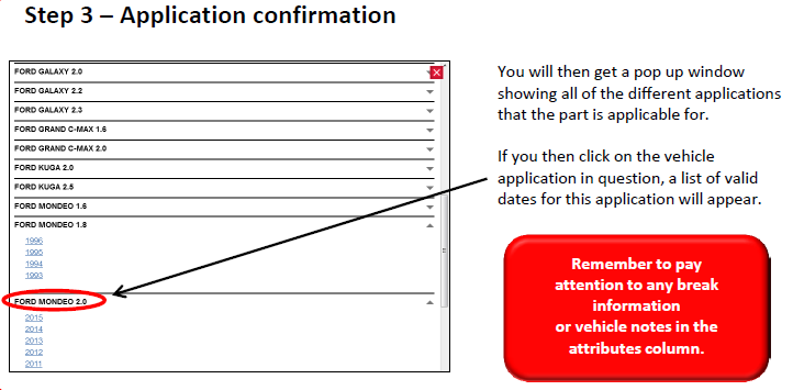 Step 3 application confirmation