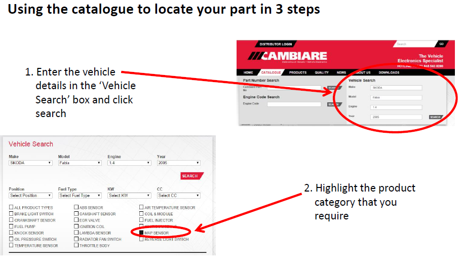Using catalogue in 3 steps